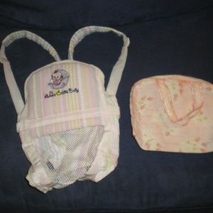 Adora Doll Carrier & Vintage Doll Diaper Bag